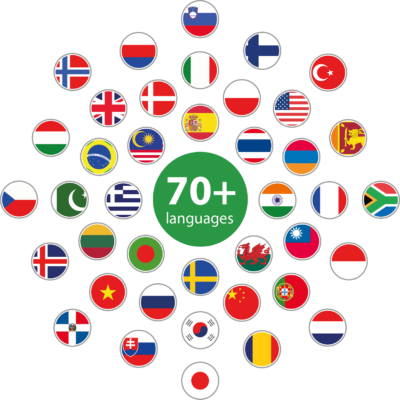 Resources available in 70+ languages