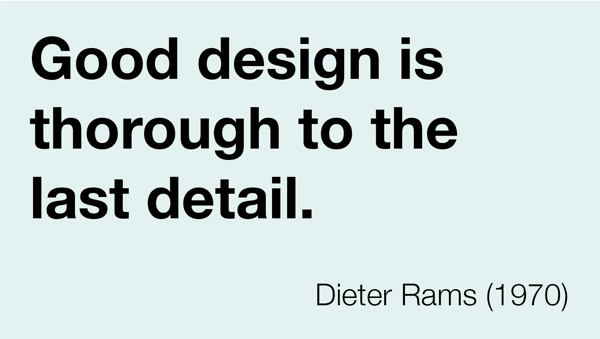 Comprehensive and considered design