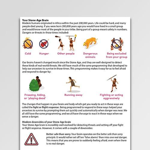 Your Stone Age Brain information handout